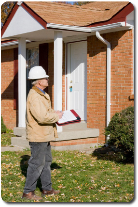 Picture of a home inspector